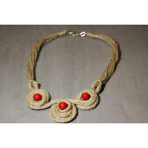 "Handcrafted Eco Necklace ""Ethno"""