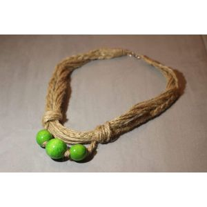 "Handcrafted Jute Necklace ""Gooseberry"""