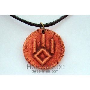 Handcrafted pendant talisman «The Symbol of a Wolf»