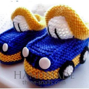 "Handmade babies shoes ""Car"""