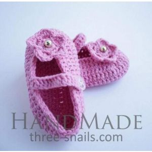 "Handmade bootees ""Water lily"""