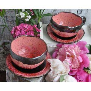 "Handmade ceramic tea set ""Poppy Melody"""