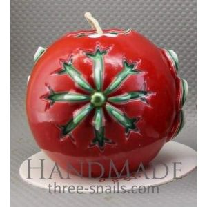 """Handmade Christmas candle """"Winter patterns"""""""