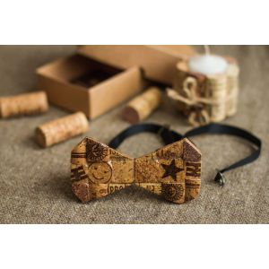 "Handmade cork bow tie ""Trendy look"""