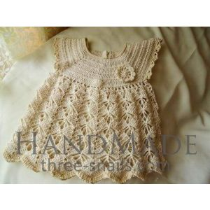 "Handmade crocheted dress ""Creamy ice-cream"""