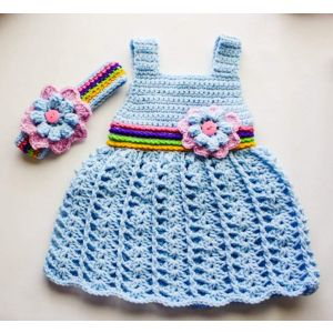 "Handmade crocheted dress with a bandage ""Floret"""