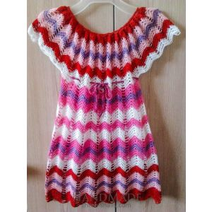 "Handmade crocheted dress ""Zigzag"""