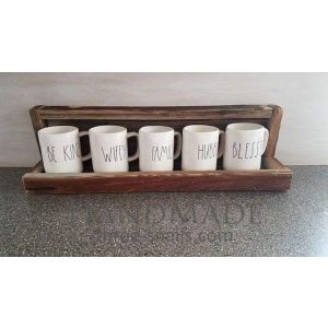 Handmade cup display