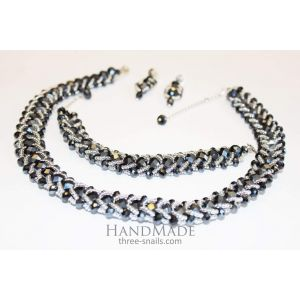Handmade designer jewelry set «Exquisite»