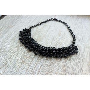 """Handmade Evening Necklace """"Oskar black"""""""