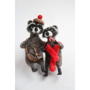 "Handmade gifts ""Couple of raccoons"""