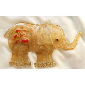 "Handmade glass home decoration ""Indian Elephant"""