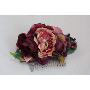 "Handmade hair accessories. Hair comb ""Wine flavour"""
