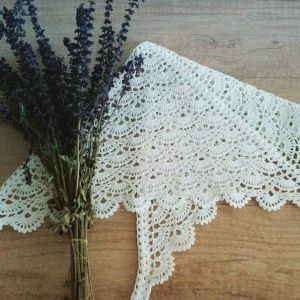 "Handmade Knitted Kerchief ""Provence"""