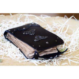 "Handmade leather journal ""Gothic motives"""