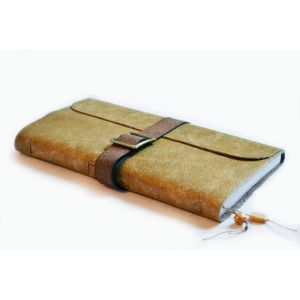 "Handmade leather journal on the strap ""Judy"" Beige"