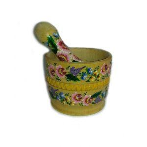 "Handmade mortar and pestle ""Ethno Magic"""