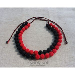 "Handmade necklaces ""Red and black"""