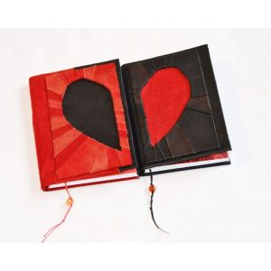 "Handmade notebooks set ""Mad love"""