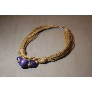 "Handmade Organic Necklace ""Purple"""