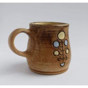 "Handmade pottery mugs""Coffee satisfaction"""