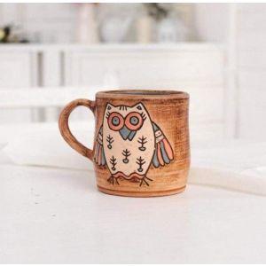"Handmade pottery mugs ""Owl"""