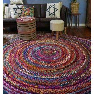 Handmade round area rug