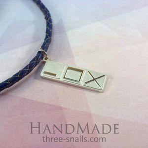 "Handmade silver pendant ""Windows buttons"""
