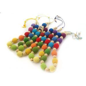"Handmade sling beads ""Rainbow"""