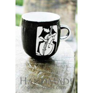 Handmade tea cup «Musician»