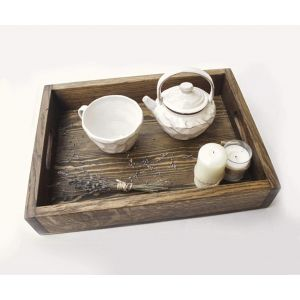 "Handmade wooden tray ""Care"""