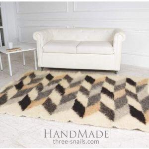 "Handmade wool carpet ""Stylish Geometry"""