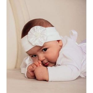 "Headband for baby girls ""Baptism day"""