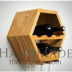 Hexagon wine bottles shelf