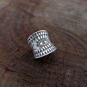Hippie silver ring