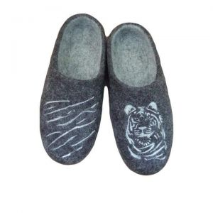"Home mens slippers ""White Tiger"""