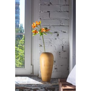 Horizontal rustic wood vase