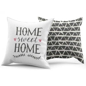 "Hypoallergenic decorative pillow ""Home sweet home"""