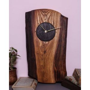 Textured wall clock