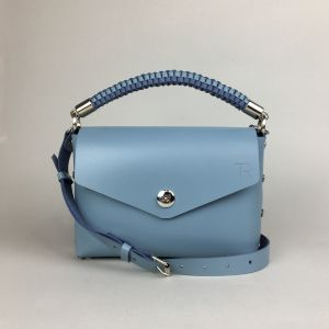 Pastel blue leather mini bag