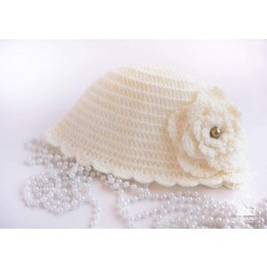 "Infant Hat ""Charming flower"""