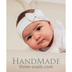 "Infant headband ""Bow"""