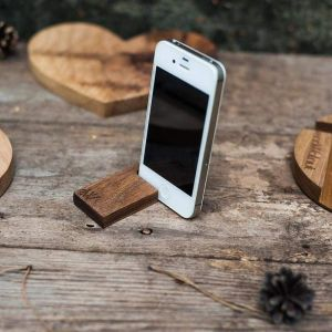 "Iphone and tablet wood stand ""Hook"""