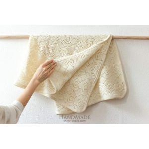 Ivory crochet baby blanket