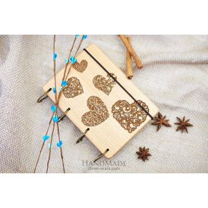 "Journal notebooks ""Hearts"""