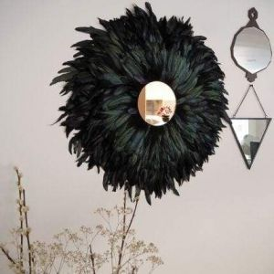 Juju hat feather mirror