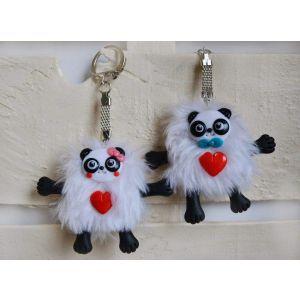 "Key keychain""Panda"""