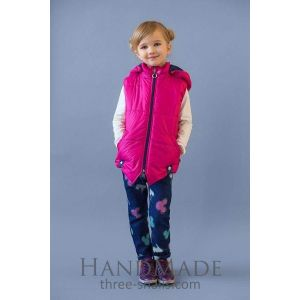 Kid girl hooded vest