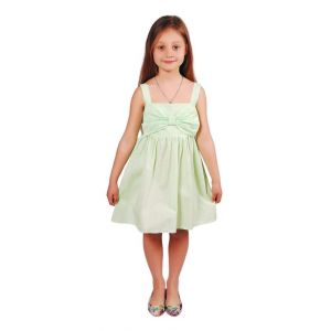 "Kids dress ""Pale-green bow"""