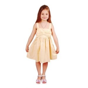 "Kids dress ""Yellow bow"""